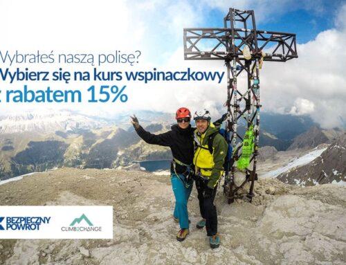Kursy wspinaczkowe climb2change zBezpiecznym Powrotem